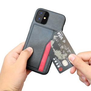 Slot pour carte Business Style Mode Phone Cases pour iPHONE 11 PRO MAX 12 XR iphone XS X MAX 8 7 6 Plus Retour Carte couverture Cas