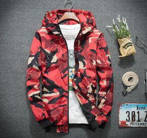 HOT Designer Jackets Mens camouflage Brand Windbreaker Coat Zip Hoodies Thin Sports Outerwear Street Hiphop Casual Light Weight