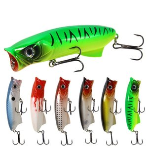 6pcs Lot 8cm 11.3g Bionic Bait Topwater Fishing Lure Bass Trout Pike Hard Bait Artificial Lure Fishing Tackle Popper Lures