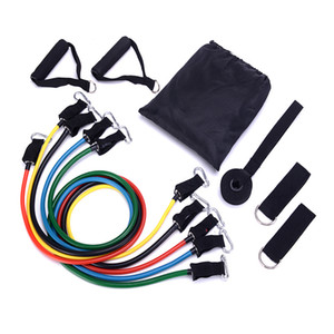 resistance exercise tubing band kit home office gym using all age suitable with handle grip door anchor and ankle strap