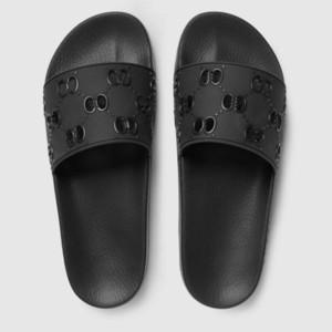 avec la boîte! Qualité Classique Hommes Slipper Sandales femme Mocassins pantoufle Slides des tongs taille chaussures: 35-45 bag06 016