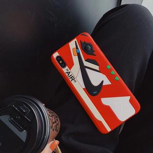 Custodia posteriore in silicone modello sportivo di alta qualità Custodia morbida per telefono cellulare con stampa antiurto per iPhone XS Max XR 6s 7 8 Plus 10
