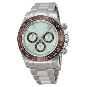 17 цветов мужские автоматические подметальные часы серебро сапфировое стекло TONA Series M116519 нержавеющая сталь твердая Застежка черный циферблат мужские часы