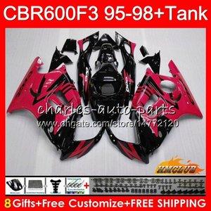 Body +Tank For HONDA CBR 600F3 600CC CBR600 F3 95 96 97 98 41HC.297 CBR 600 FS F3 CBR600FS CBR600F3 1995 1996 red flames 1997 1998 Fairing