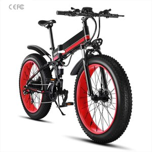 Elektrofahrrad 26 Zoll 48V 1000W Fat Tire Mountain Schnee Ebike Folding Elektro-Fahrrad