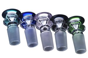 A Group OF 10 Pieces Thick cute Many Colors 14mm Glass Banger Bowl 19mm Bowl gor Glass Water Bongs Hookahs Shisha