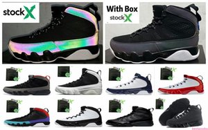 9 Racer Blue Men Basketball Shoes 9s Gym Red Dream It Do It UNC Space Jam Chameleon Sports Sneaker With Free shippment