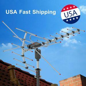 HDTV 1080P TV Anten AMPLİFİYE Dijital 15-22dB Açık TV Anten 150Miles Uzun Menzil 360 Derece Dönme ABD Stok