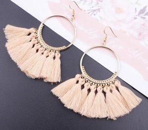 12 Pairs Colorful Long Flower Fringle Tassel Earrings Set&3 Layer Tassel Fan Bohemia Earrings for Women Girls Gold Silver Gift Jewelry