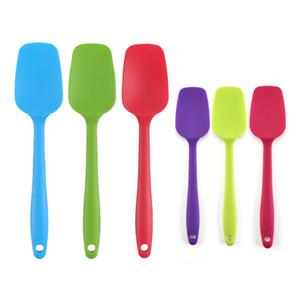 Senza soluzione di continuità in silicone cucchiaio Spatola BPA gratuito Cucina raschietto utensile per la cottura e la cottura del gelato Paletta JK2004