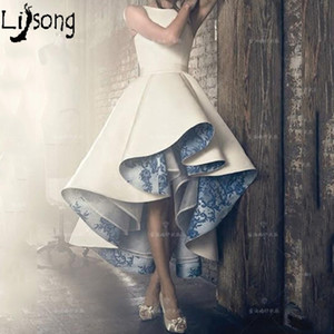 High Low Lace Inside Pleated Sleeveless Women Formal Dress Evening Gowns Custom Made Chic Design Female Gown Celebrity Party Y19042701