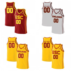 عرف USC أحصنة طروادة كلية كرة السلة أحمر أصفر خمر أبيض مخيط أي اسم رقم 4 كيفن بورتر جونيور 25 Bennie Boatwright جيرسي S-4XL