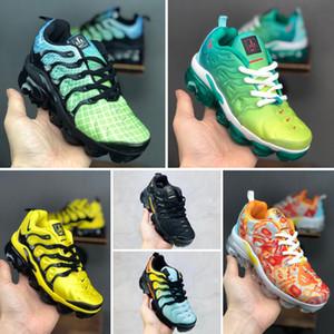 Nike Air TN Plus 2019 Yeni TN Artı Çocuk Ayakkabı Koşu Nefes Kız ve Erkek Gençlik Tasarımcı Spor Sneakers Eur Boyut 24-35