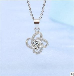 S925 sterling silver necklace female four-leaf clover pendant Korean version of students simple clavicle chain
