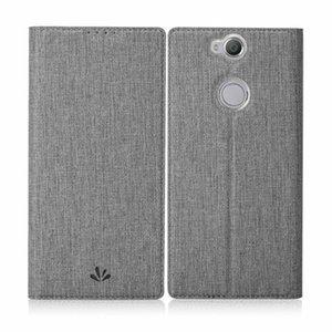 Für sony xperia xa2 plus case luxus telefon abdeckung stoßfest flip xa2plus phone wallet echtes leder schutz xa 2 plus cases t190710
