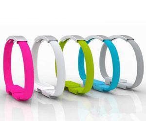 100шт Красочные Короткие Плоский браслет наручных Band Магнитный кабель USB Фиксатор лучезапястного сустава 2,0 синхронизации данных зарядное устройство для зарядки Кабели для смартфонов