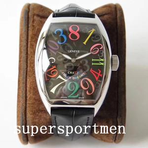 Beste Qualität Armbanduhr CRAZY STUNDEN 8880 Paare mechanische automatische Edelstahl-Mann-Männer Frauen Frauen-Uhr-Uhren Armbanduhren