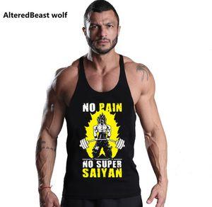 Bodybuilding Dragon Ball Men Tank Tops GOKU Print Men Stringer Tank Top Fitness Singlet Top Workout Men Sleeveless shirt Vest MX200518