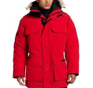 Luxury Canada Winter Jacket Mens luxury Designer Down Parka Outerwear Big Fur Hooded Canada Down Jacket Coat Size