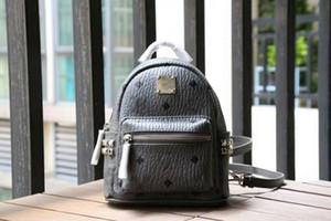 Designer- yeni moda Kore versiyonu M serseri çivili altın süper mini sırt çantası kadın ve erkek öğrencilerin çantası seyahat çantası