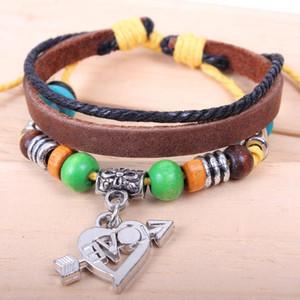 Infinity Bracelets Wholesale Bronze Bracelet Leather Braided Snake Leather Bracelet