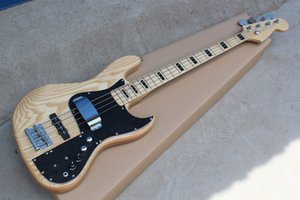 New 4 strings Maple Fingerboard Original Body Electric Bass Guitar with Chrome hardware,Black pickguard,2 pickups,offer customize