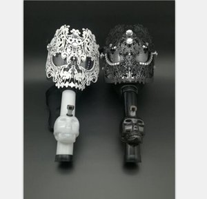 XXXL Gas Silicone Mask Bong Art Silicone Water Skull Acrylic Smoking Pipe Hookahs Shisha Tobacco Cigarete Pipes Tools 5 Styles