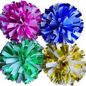 kombinasyonunu ücretsiz yapabilirsiniz Renk seçebilir Kolu ponpon Cheerleading Metal rengi beyaz Oyun ponponlar (20pieces / lot) mix