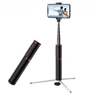 New Style Devil 201 Selfie Stick Bluetooth Remote Control Recessed Tripod Selfie Stick Aluminium Alloy Material