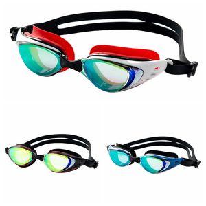 2019 unissex miopia galvanizar óculos de natação à prova d 'água dioptria óculos de natação de silicone anti nevoeiro proteção uv óculos de natação