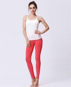 Estilos LU control de la panza de fitness pantalones Multicolors Criss Cross Hollow Formación pantalones de yoga de secado rápido Gimnasio polainas Ropa para mujer 72lye E19
