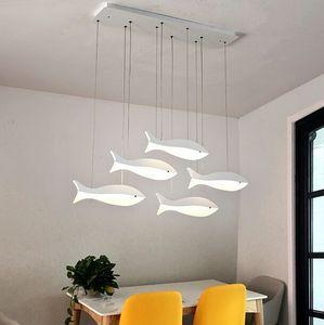 Luces pendientes modernas LED para comedor Cocina Habitación Bar AC85-265V de interior casero pescado Deco colgantes lámpara colgante Accesorios MYY