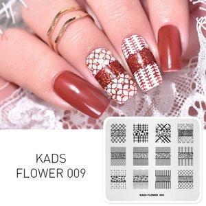 Новое прибытие цветок 009 серии Flower Theme нашивка красота печать Nail Designs Маникюр Тарелка искусство ноготь украшение Stamp UNA