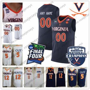 UVA Virgínia Cavaliers 24 Marco Anthony 15 Brogdon 21 Wilkins Malcolm Isaiah Branco 50 Ralph Sampson Men Youth Kid 2019 Final Quatro Jersey