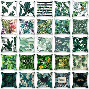 Tropical Plant Taie D'oreiller Housse de Coussin Glamour Carré Taie D'oreiller Housse De Coussin Home Office Sofa Car Décoration De Voiture WX9-1243