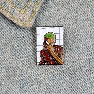 싱어 앨범 에나멜 핀 여성을위한 브로치 부상을 입은 남자 스타 배지 프랭크 바다 옷깃 핀 옷 재킷 배낭 쥬얼리 선물 친구