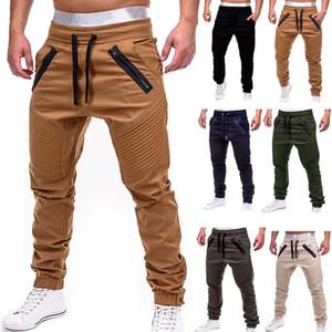 Мужские грузовые брюки осень хип-хоп Harem Joggers мужские брюки мужские твердые многократные спортивные спортивные штаны