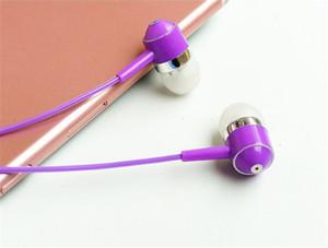 Coloré 100 pcs Couleur Color Crystal Line Écouteurs Téléphone Computer Subwoofer générique Contrôle du fil avec microphone Bouchons d'oreille DHL Free