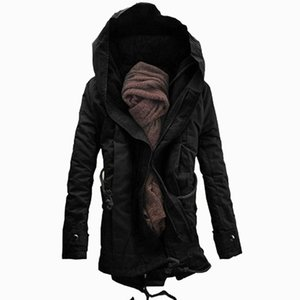 New Men Padded Parka Cotton Coat Winter Hooded Jacket Mens Fashion large size Coat Thick Warm Parkas Black army green 6XL