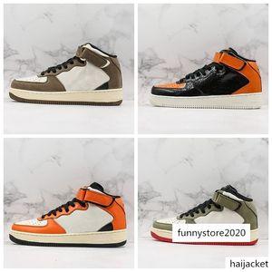 Forced 1 07 Skate Shoes Creative Opposite Hook Travis Scotts Basketball Shoe For Men Women Black White Brown Platform Sports Trainer