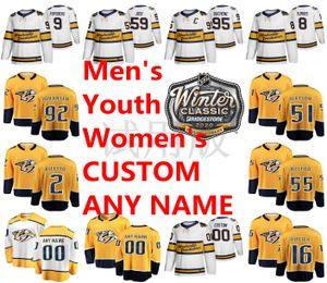 2020 Inverno clássicos Nashville Predators Jerseys Rem Pitlick Jersey Cody McLeod Austin Watson Anthony Bitetto Hockey Jersey personalizado costurado