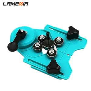 LAMEZIA Adjustable 4-83mm Dريل Bit Tile Glass Hole Saw Core Guide With Vacuum Base Suckator Power Tool Insuments