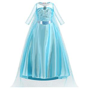Niñas cosplay de la princesa del traje de la etapa del funcionamiento de los niños ropa de fiesta de la nieve del vestido del diamante vestido Mostrar 3-10T 07