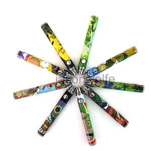 1100mah Vape Pen Эго Испаритель Аккумулятор Нижняя Twist Cartoon E Cigarette Variable Voltage 3.3В-4.8В Для 510 Thread Ecigs Картридж Атомайзер