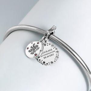 2020 de presse S925 argent Harry Potter Sterling Gryffondor Pendentif perles de charme Collier Bracelets européenne Fits Pandora