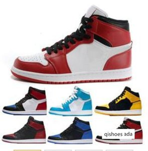 Cheap 1 top 3 Banned Bred Red Chicago OG UNC Royal Mid hare mens casual sneakers Shattered Backboard sports designer trainers shoes