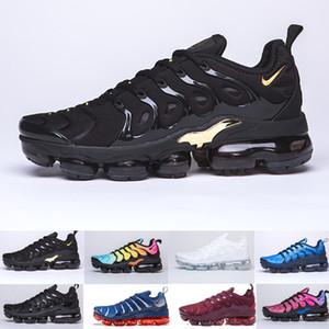 2019 TN PLUS Erkekler Kadınlar Siyah Hız Kırmızı Beyaz Antrasit için Koşu Ayakkabı Ultra Beyaz Siyah 2019 En Sneakers 36-45 GR6983