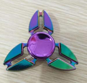 Colorful dito giroscopio in lega di zinco di decompressione giocattolo giroscopio dito