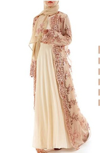 1pcs lot woman Luxury Embroidery Sequins Abaya Muslim Maxi abaya Cardigan Long sequin Robe