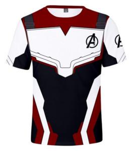 Novedad Streetwear para hombre, mujer, estilo de verano, The Avengers 4 Funny 3D Print Casual con cuello en O camiseta Tops y talla RW0464
